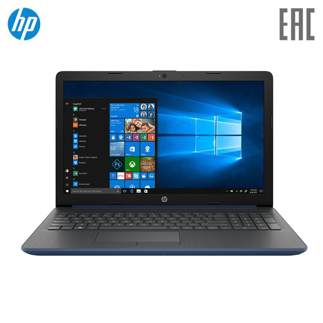 "Ноутбук HP15 15-db0192ur/15.6"" FHD/AMD A4-9125/4Gb/500Gb/no ODD/Win10/синий (4MV81EA)"