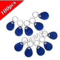 HOMSECUR 100Pcs Blue125Khz Rfid Proximity Id Token Tag Key Ring High Quality Brand New