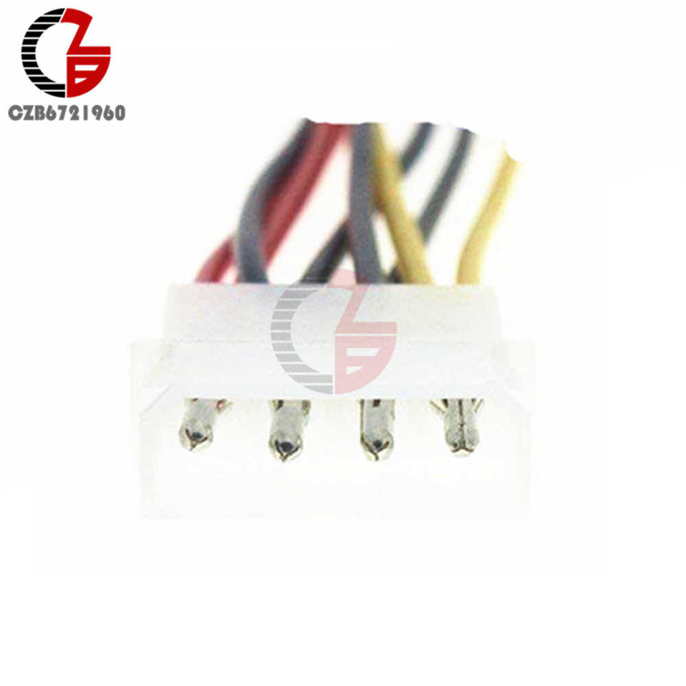 4 ขา IDE Molex ถึง 2 Serial ATA SATA Y Splitter Dual Hard Drive Adapter Cable Connector
