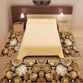 Еще 3 шт коричневые деревья деревянные сумки цветочный 3d Рисунок печать Нескользящая микрофибра моющийся Декор спальная зона ковер набор