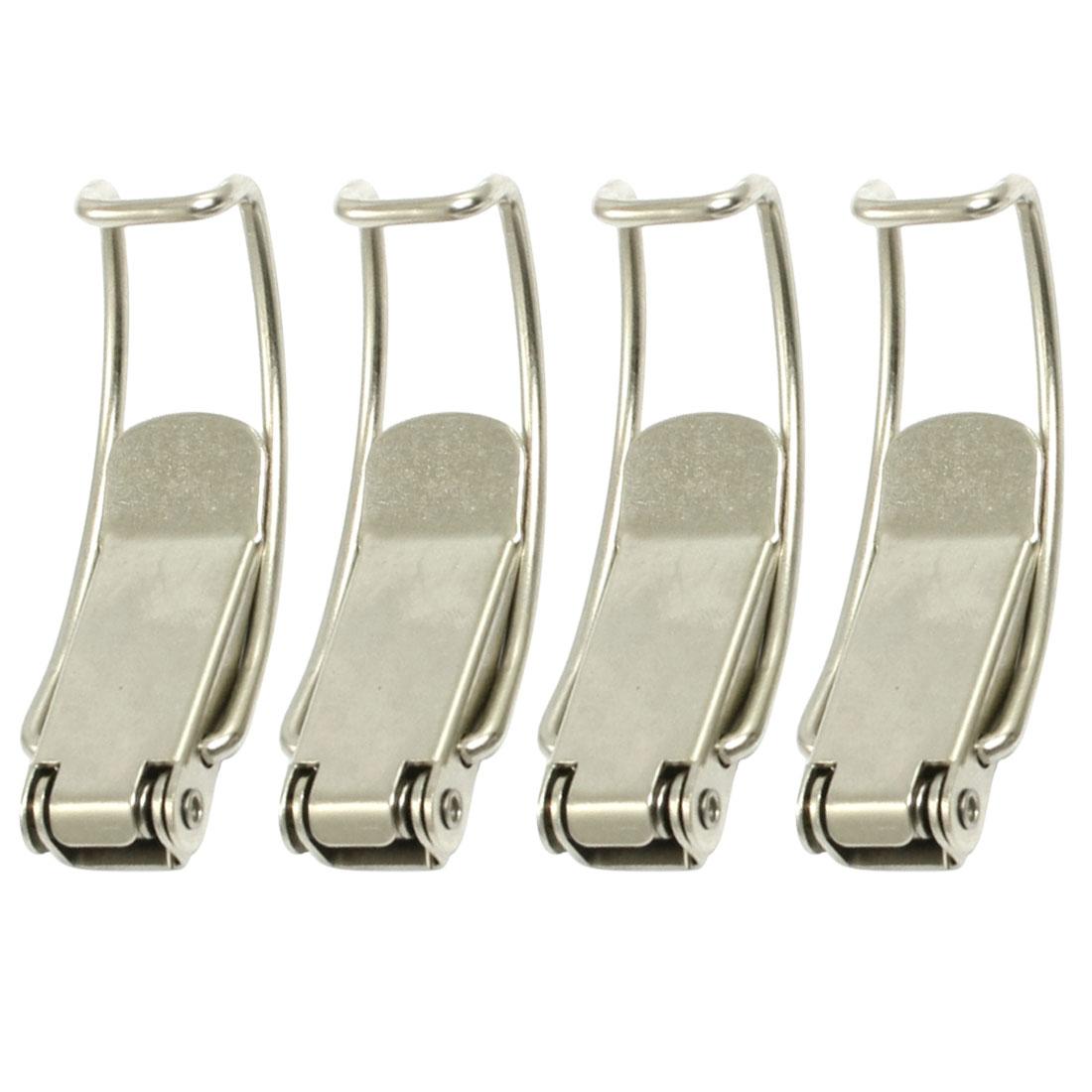 UXCELL Hot Sale 4 Pcs/lot 4mm Hole Dia Box Chest Case Spring Loaded Draw Toggle Latch 8.5 x 2.3 x 1.5cm Silver Tone лупа 20pcs lot 45 x 45 x 2led 10699