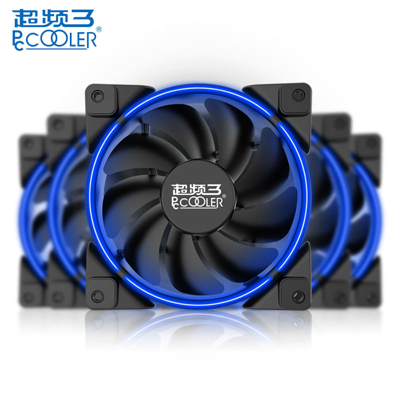 PCCOOLER 12cm Air CPU Cooler Cooling Fans 4 Heatpipes LED Smart Aura Fan for AMD AM2 for Intel LGA 775 115X 2011 Computer Case in Fans Cooling from Computer Office