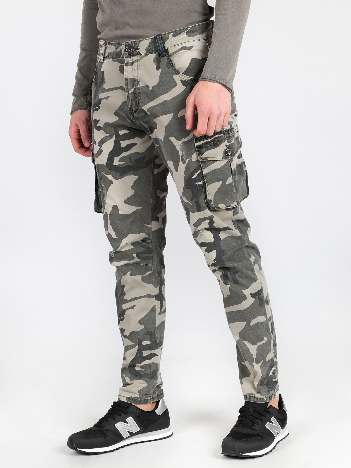 Cargo Pants With Print Camouflage