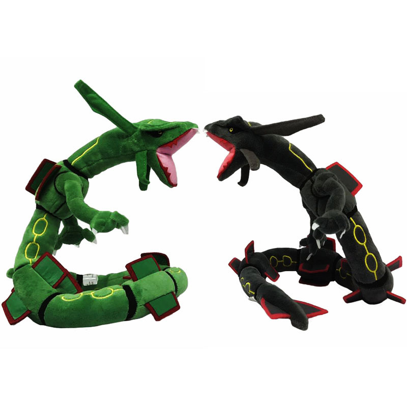 Anime Cartoon Green Black Rayquaza Plush Toys Soft Stuffed Animal Dolls 83cm Free Shipping