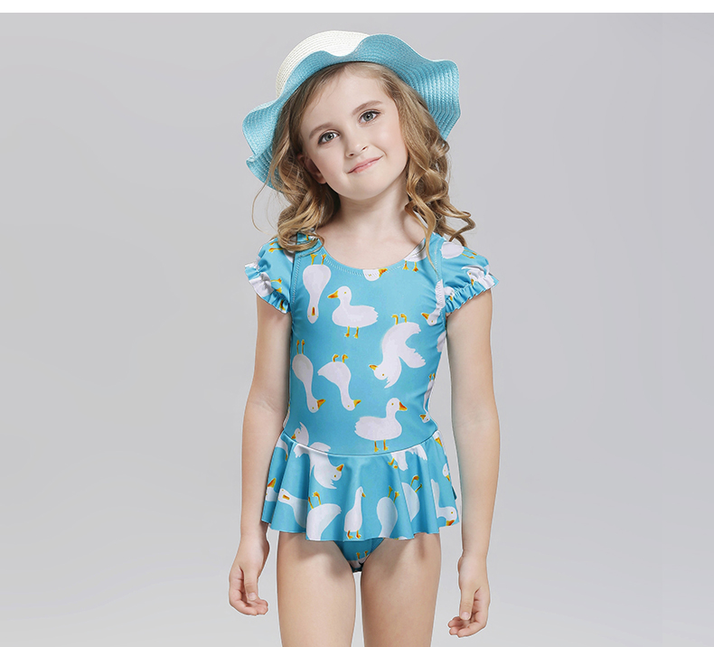 78c40690 Little Girls Swimsuit Children's Swimsuit Princess Toddler Bikini Swan  Print Bathing Suit One Piece Swimwear Kids Swimming Suit -in Children's One- Piece ...