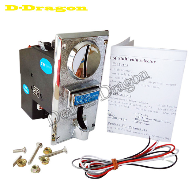 US $29 99 |Free shipping CH926 multi coin acceptor slector for message  chair/ washing machine/ Coin operated Timer Control Board -in Coin Operated