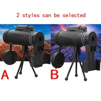 Universal 40X60 HD Zoom Mobile Phone Lens Camping Travel Waterproof Monocular Telescope Tripod Clip For Samsung
