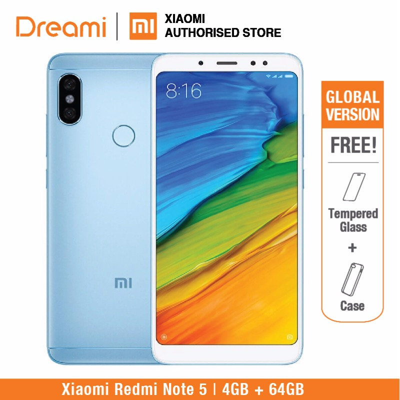 Global Version Xiaomi Redmi Note 5 64GB ROM 4GB RAM (Brand New and Sealed)  redmi note5