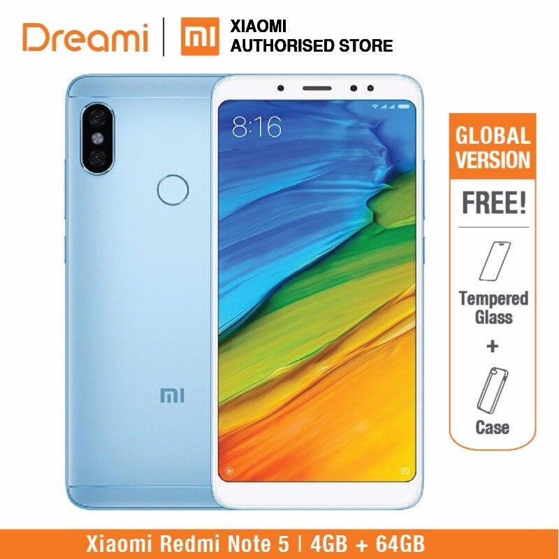 Глобальная версия Xiaomi Redmi Note 5 64 ГБ ROM 4 ГБ оперативной памяти (1 год гарантии продавца) новый комплект и запечатанная коробка