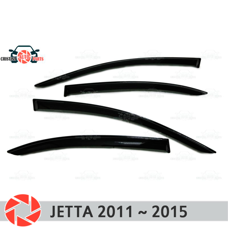Window deflector for Volkswagen Jetta 2011-2014 rain deflector dirt protection car styling decoration accessories molding original view window flip pu leather case cover for uhappy up920