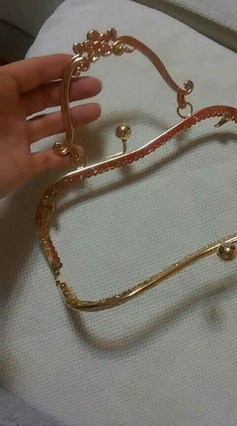 BDTHOOO 20.5cm Metalen Portemonnee Frame Blossom Handles Vintage Kus Sluiting Brons voor DIY Portemonnees Clutch Handtas Accessoires photo review