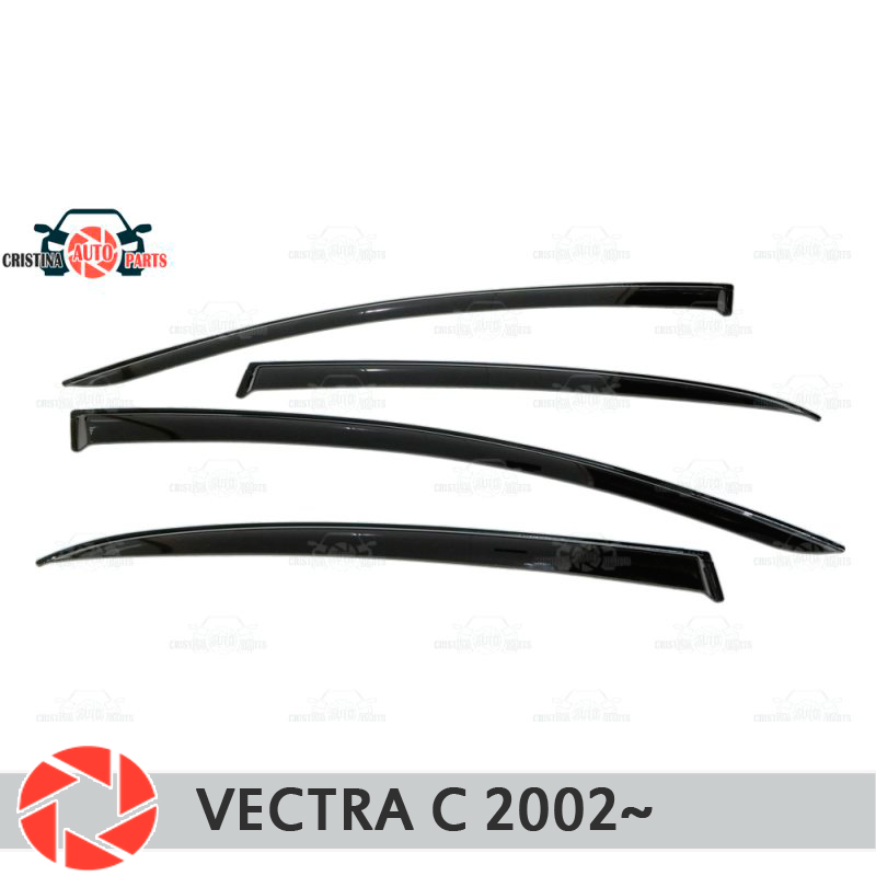 Window deflector for Opel Vectra C 2002~2008 rain deflector dirt protection car styling decoration accessories molding ветровики ст opel vectra c hb 5d 2002 2008