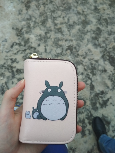 APP BLOG Cute Cartoon Totoro Women Men Credit ID Card Holder Case Extendable Bags Small Wallet Coin Purse Carteira Feminina Muje photo review