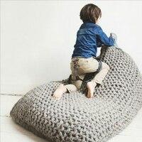 Ручной творчество ленивый диван дети мешок фасоли диван кресло Гостиная детей Single Puff диван кровать татами украшения дома 5