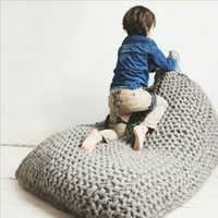Handmade Creativity Lazy Sofa Kids Bean Bag Sofa Chair Living Room Children Single Puff Sofa Bed Tatami Home Decoration 5