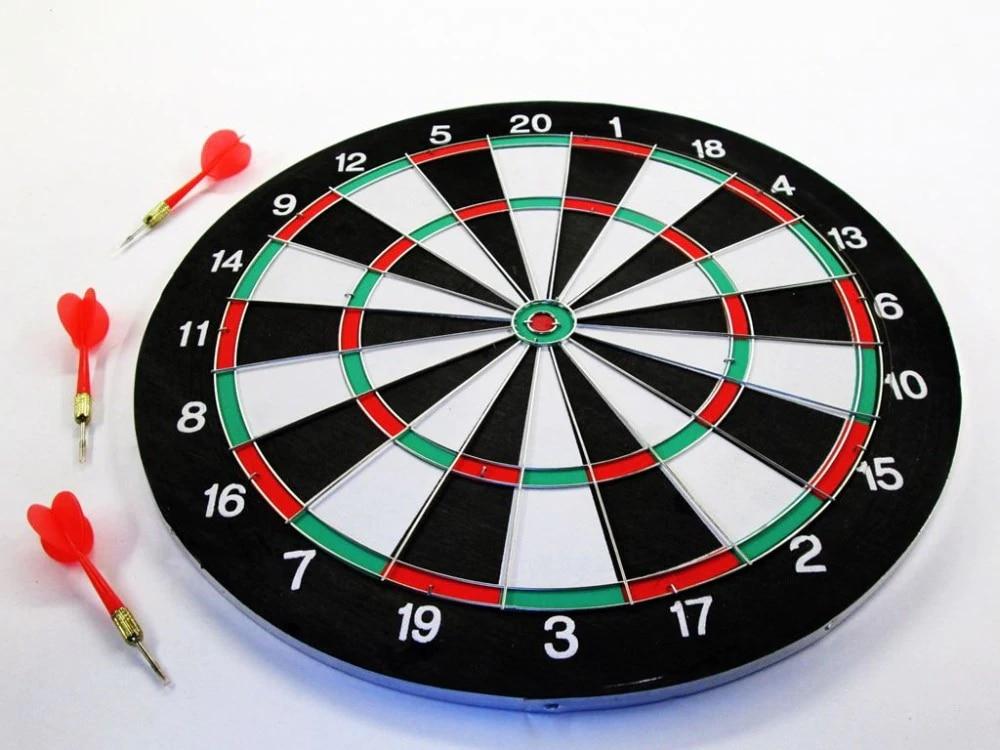Darts dartboard indoor outdoor fun 17 inch big board with dart flights Plastic Metall 341-325