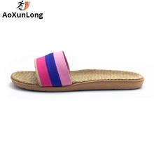 A Word húzása női papucs nyári ágynemű szövés Főoldal Papucsok sík cipő Női szandál Méret 35/40 Flip Flops Női cipő Hot