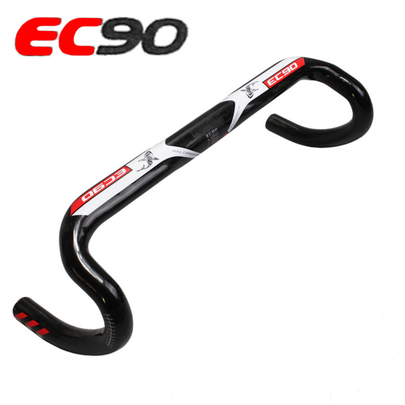 EC90 Ultralight Full Carbon Fiber Road Bike Handlebar 31 8MM Racing Handle Bicycle Parts Bent Bar