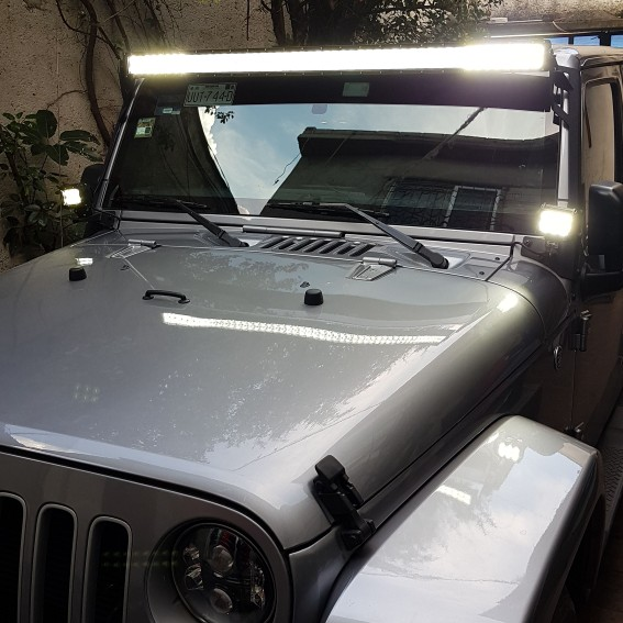 1 x 52 inch 500w 5d led light bar combo straight offroad 2 x 18w the light bar is amazing 4 inch light is to low aloadofball Gallery