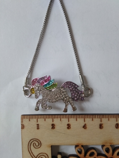 Unicorn Silver Color Alloy Pendant Chain Bracelet photo review
