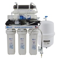 Undersink Reverse Osmosis Drinking Water Filter System with UV Sterilizer and Alkaline Filter/after filter ph value of 8.0 9.50