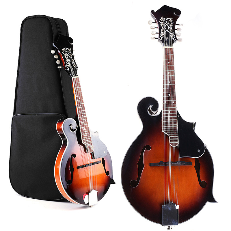 39'' Sunset F-Model Mandolin 8 Strings Concert Ukulele Bass Guitar with Ukulele Case For Musical Stringed Instrument Lovers Gift 5x 1pc wood folding stand for guitar ukulele mandolin banjo violin