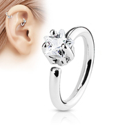 Moda Cyrkon Gwiazda Ear Nose Lip Hoop Pierścień Kobiety Chic Body Piercing Biżuteria