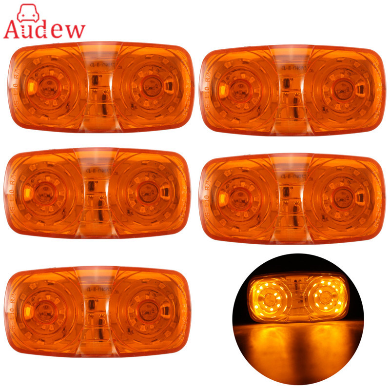 5Pcs LED Tail Light Trailer Truck Side Marker Light Clearance Indicator Tiger Eye Lamp Amber plug in electricity style corridor fire emergency light led safety export indicator sign vacuation passageway marker light