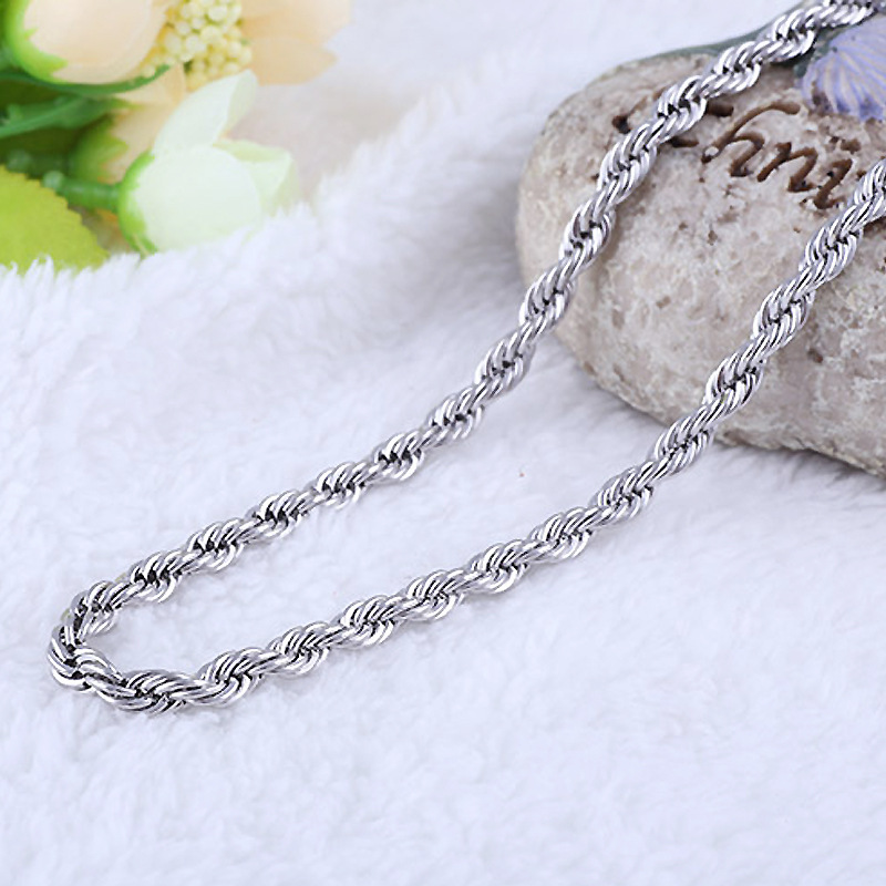 Top Quality Silver Metal Rope Popcorn Chain Necklace Accessories Korean Summer Style DIY Wedding Handmade Jewelry Wholesale Hot in Chain Necklaces from Jewelry Accessories