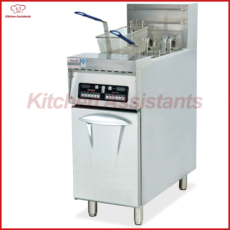 DF33 Luxury Electric Computer Fryer with 1 Tank 2 Baskets of catering equipment