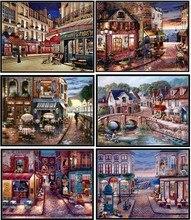 Borduurwerk Geteld Borduurpakketten Handwerken Ambachten 14 ct DMC Kleur DIY Arts Handgemaakte Decor Twilight View Collection