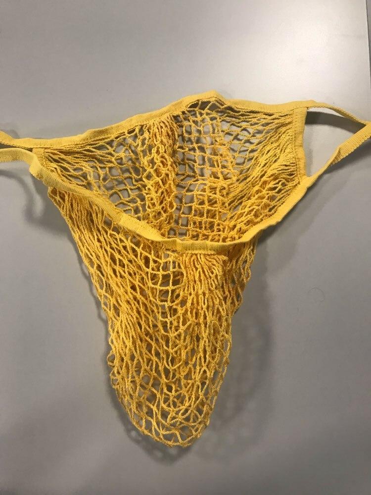 2019 New Mesh Net Shopping Bag Reusable Foldable Cotton Fruit Grocery Shopper Women Shoulder Bag Tote Case photo review