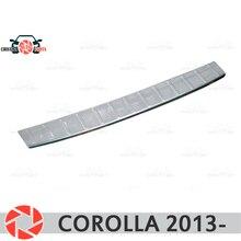 Для Toyota Corolla 2013-защитная пластина на Задняя накладка на бампер Стайлинг автомобиля украшение накладка панель аксессуары литье