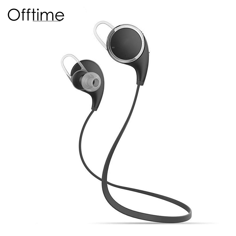 Offtime QY8 Wireless Bluetooth headphone Noise Cancelling Sport earphone Stereo In-Ear Headset with APT-X/Mic for Smartphones sport sleeping headset headband earmuff wire headphone earphone ear cup stereo noise cancelling anti snoring