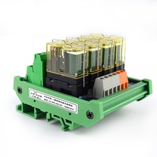 4-way relay dual-group module, 24V rail mounting, PLC amplifier board control board цена