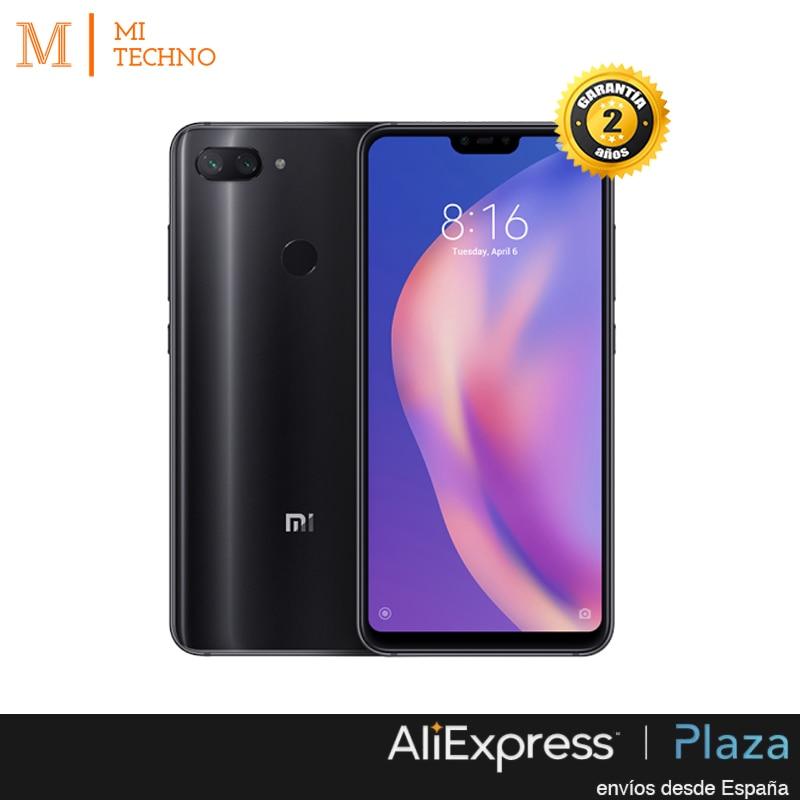 Mondial Version, Xiao mi mi 8 Lite 4 GB + 64 GO, Noir Bleu, google play et Castillan installé, Caméra 24.0MP, Écran 6,26