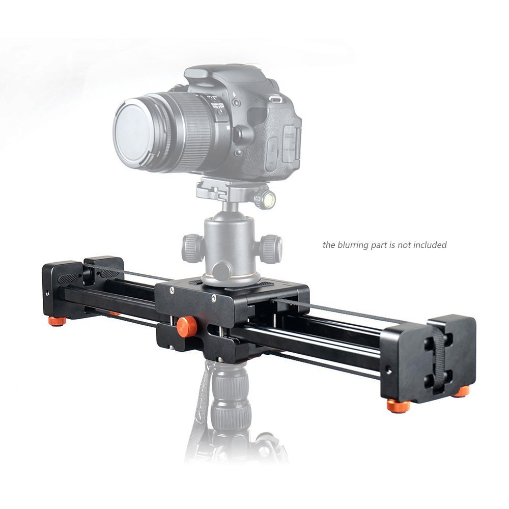Commlite CS V500 Retractable Video Slider 50cm Dolly Track Stabilizer 1m Actual Sliding Distance Load Up 8kg+3 Way Fluid Head - 6
