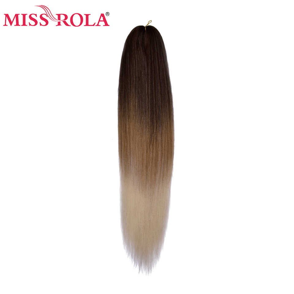 Miss Rola extensión de pelo sintético Yaki recto Jumbo trenzado de pelo Pre-estiramiento trenza Kanekalon cabello 6P piezas por paquete