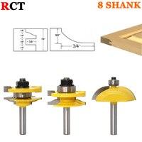3pcs 8mm Shank Raised Panel Cabinet Door Router Bit Set Woodworking Cutter Woodworking Router Bits Carbide