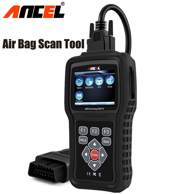 OBD2 Scanner Auto Diagnose Werkzeug OBD Auto Diagnose Airbag Crash Daten Rest ABS SAS Code Reader Löschen Fehler Ancel AD610 OBD2