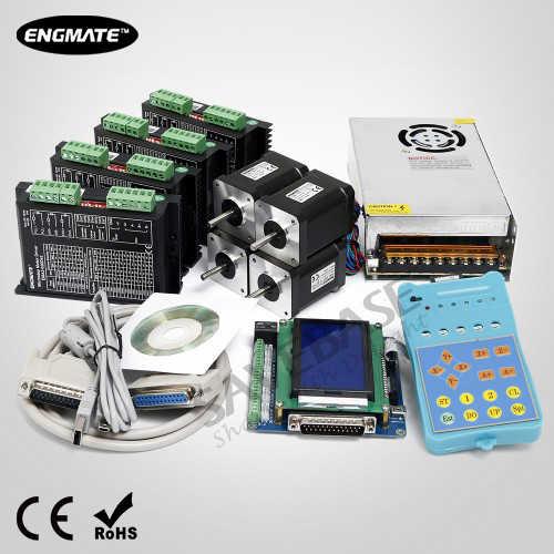 CNC Комплект 4 оси Стандартная Интерфейсная Плата и Шаговые Драйверы Nema17 Шаговый