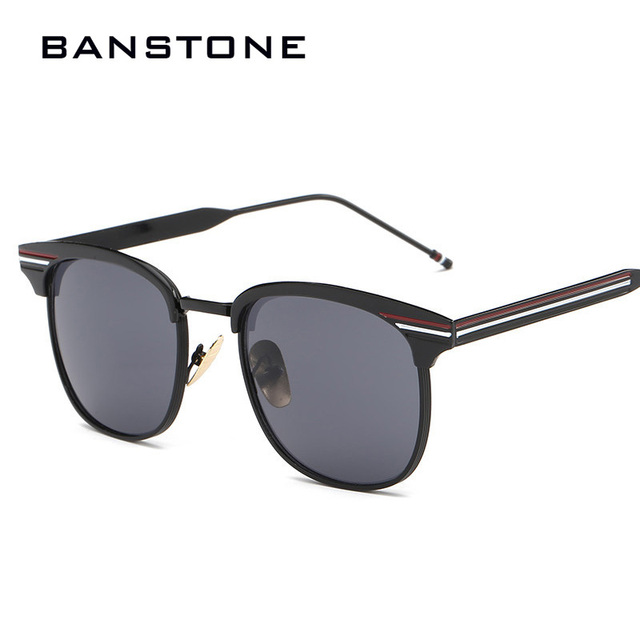 b5206e58bd BANSTONE New Retro Square Sunglasses Men Women Vintage Metal Frame Colorful  Lens Eyewere UV400 Gafas de