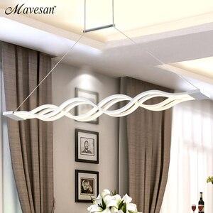 Image 3 - Dinning Room Pendant Lights Led modern for dinning room Acrylic+Metal suspension hanging ceiling lamp home lighting for Kitchen