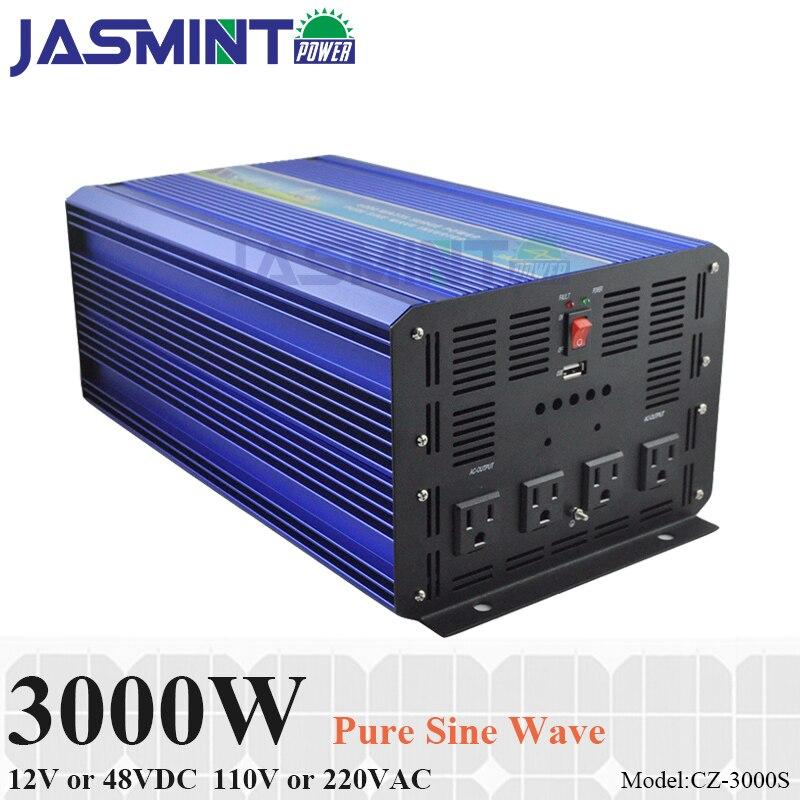 3000W Off Grid Inverter 12V 24VDC 110V 220VAC Pure Sine Wave Solar Inverter or Wind Inverter