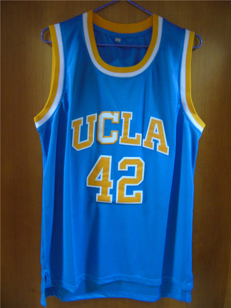 ffe053237d0f ... Jerseys UCLA College Basketball Jersey Kevin Love 42 UCLA Retro  Throwback Stitched Basketball Jersey Sewn Camisa Embroidery Logos ...