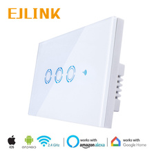EJLink Wifi Smart Switch For Home Automation US Standard 3 Gang 1 Way Light via IOS Android App Remote Control