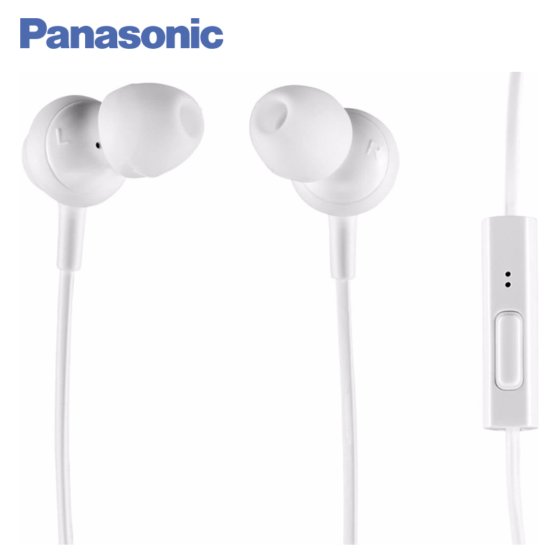 Panasonic RP-TCM360GCW In-Ear Earphone Stereo Sound Headphones Headset Music Earpieces with Microphone Earphones Super Bass remax rm 610d stereo music in ear earphone base driven high performance earphone with microphone and in line control earphones
