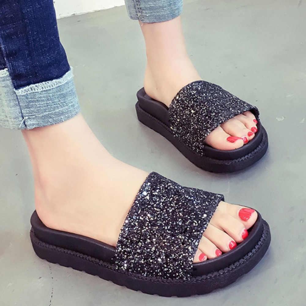 Schoenen vrouw sandalen hoge hakken vrouwen sandalen platte casual schoenen zomer sandalen vrouwen 2019 zomer schoenen echt platform slippers