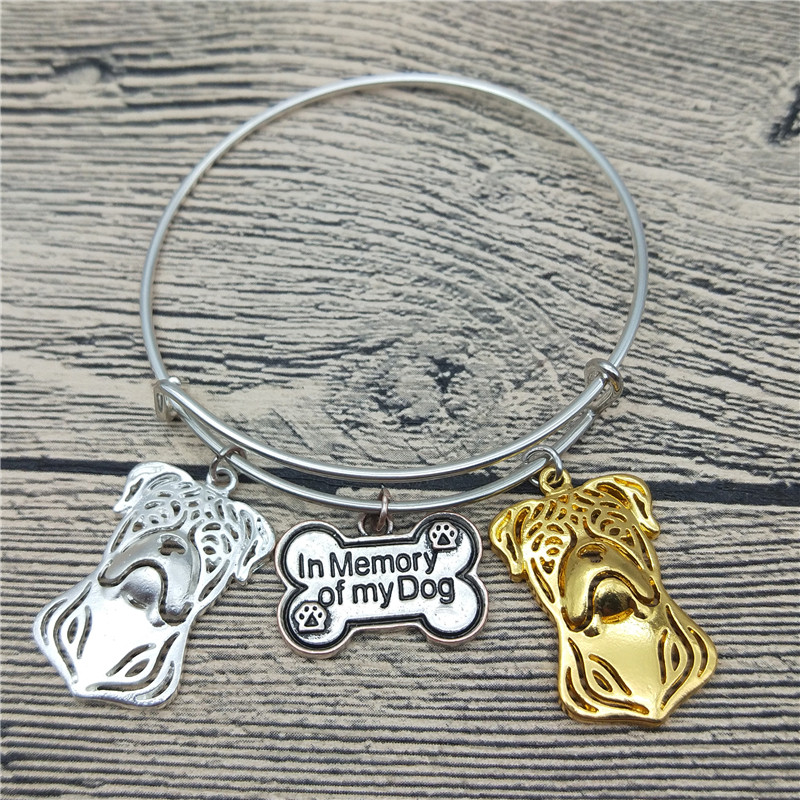 Trendy New American Bull dog Bangles Cute American Bulldog Dog Bangles Bracelets Fashion Pet Jewellery