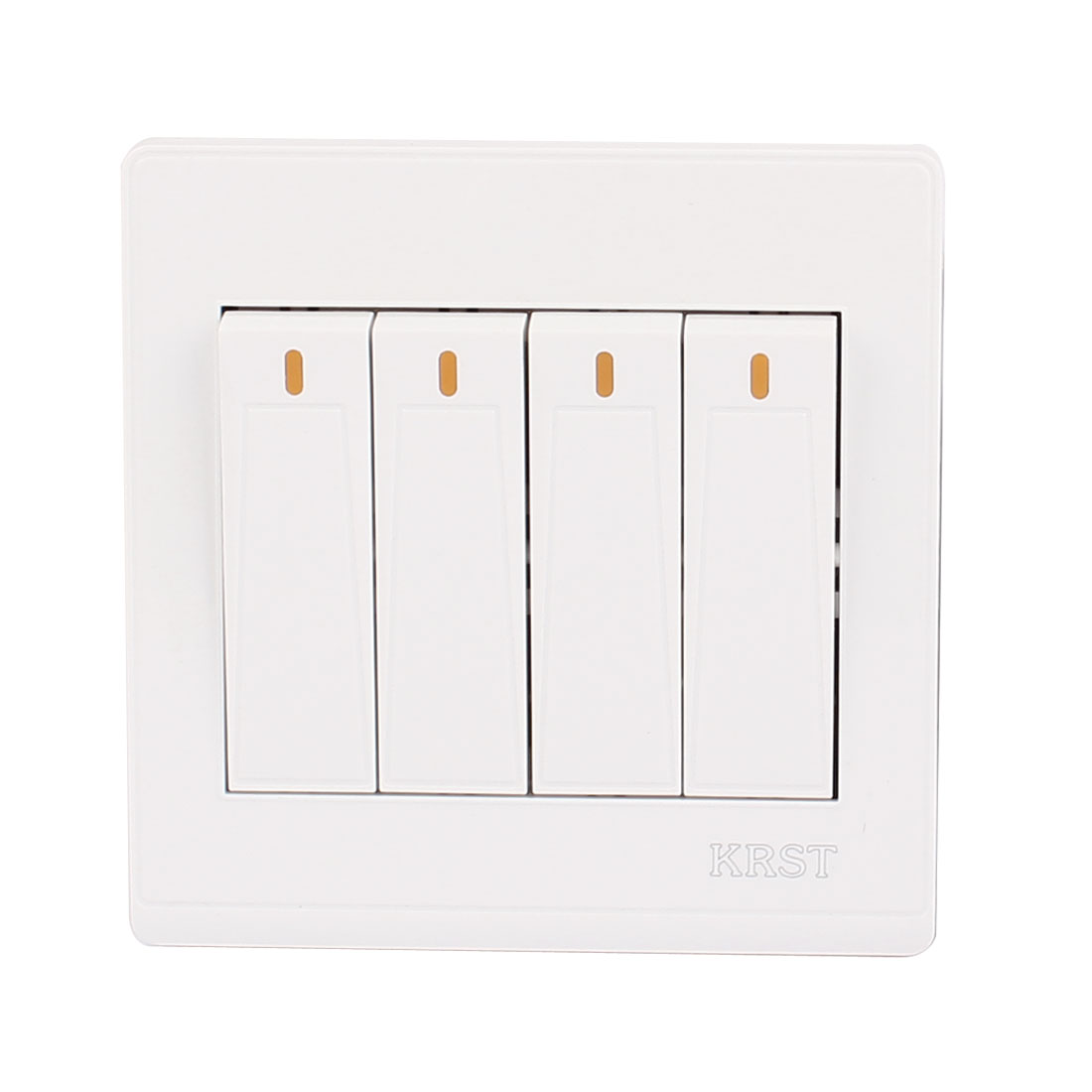 UXCELL On/Off Press Button 4 Gang 2 Way Wall Switch Home Light Lamp Control White 5pcs lot 3 colors new arrival mini lockless on off push button switch press the reset switch ve062 p0 4